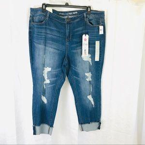 NWT🌟VANILLA STAR Skinny Distressed Jeans 24W